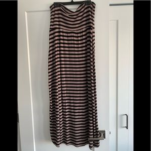 Dresses & Skirts - Canadian-made brown and black striped maxi skirt